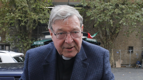 Former Vatican treasurer George Pell pictured arriving at his residence in Rome last month