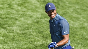 Tiger Woods smiles during practice for the Zozo Championship