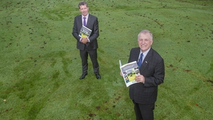 Professor Gerry Boyle, Director of Teagasc, and Liam Herlihy, Chairman of the Teagasc Authority at the launch of its annual report today