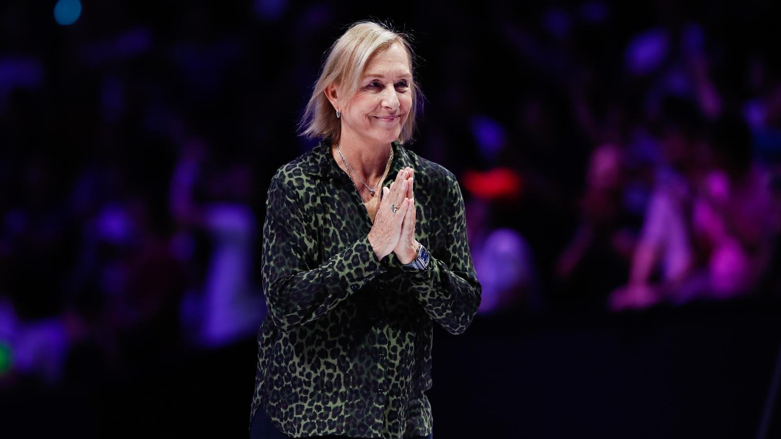Martina Navratilova: 'Being silent isn't acceptable'