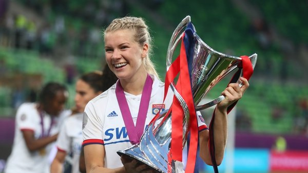 Hegerberg after helping Lyon to win the 2019 UEFA Women's Champions League
