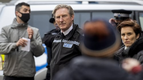 Adrian Dunbar and Vicky McClure on location in Belfast on Wednesday Photos: Press Association