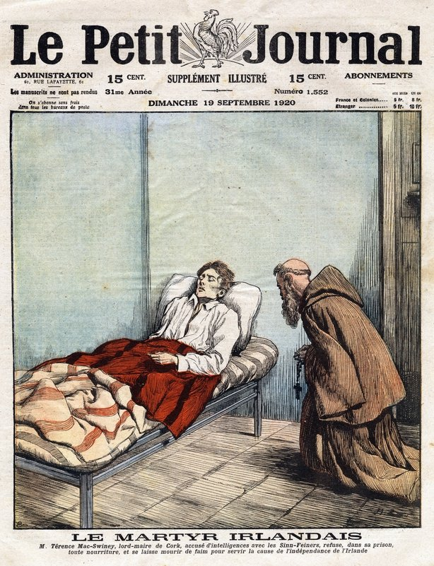 French newspaper cover with Terence MacSwiney's death