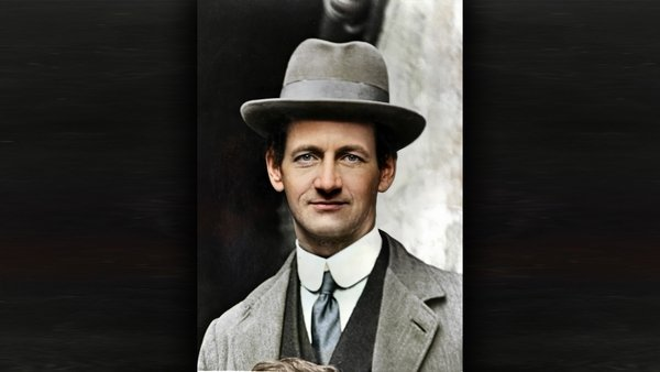 Terence MacSwiney. Image from the RTE Photographic Archive, colourised by Matt Loughrey