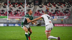 Paolo Garbisi in action against Treviso