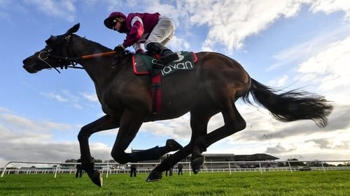Tiger Roll, with Sam Ewing up, during the Flower Hill Maiden at Navan