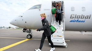 Republic of Ireland head coach Vera Pauw on the team's arrival in Kiev