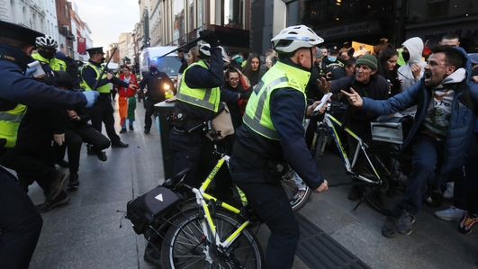 Gardaí say anti-lockdown protests intent on disrupting business