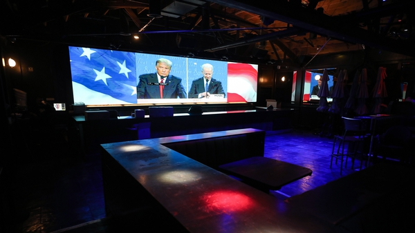 Broadcast of the debate at a venue in West Hollywood, California
