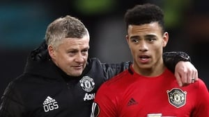 Solskjaer (l) has defended Greenwood