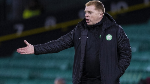 Neil Lennon cuts a frustrated figure on the touchline at Parkhead