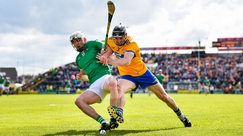Aaron Gillane (L) and David McInerney battling for the sliotar last year