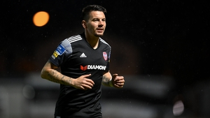 Adam Hammill was a constant threat for Derry