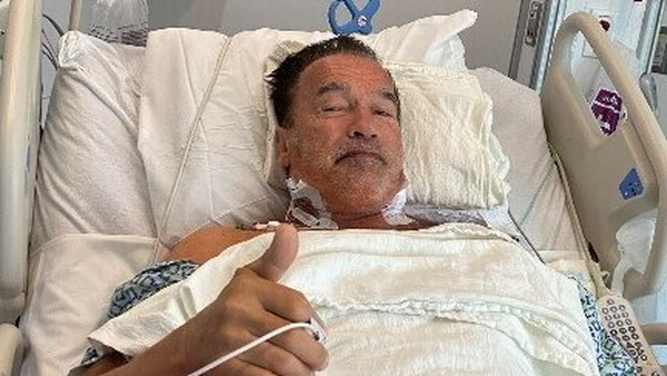 """Thank you to every doc and nurse on my team!"" Photo: Arnold Schwarzenegger, Twitter"