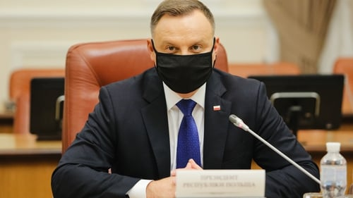 A spokesperson for Polish President Andrzej Duda said he is 'fine'