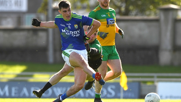 Sean O'Shea hits the back of the net for Kerry