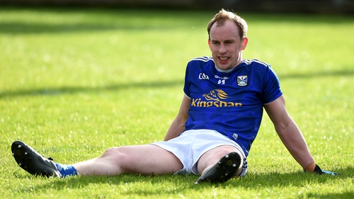 A dejected Martin Reilly after the final whistle in Cavan