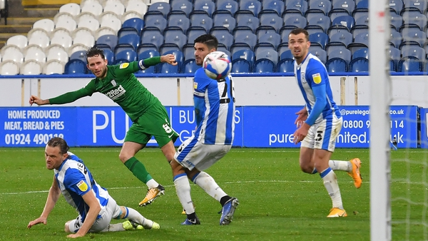 Alan Browne equalises for Preston against Huddersfield before going on to bag the winner.