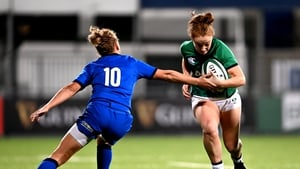 Laura Sheehan in action against Italy