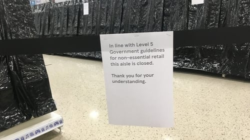 Under Level 5 restrictions only essential retail can remain open