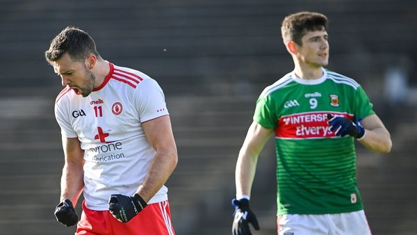 Tyrone have kept their top-flight place, Mayo drop into Division 2