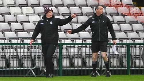Pádraic Joyce looking on as his side faced Dublin