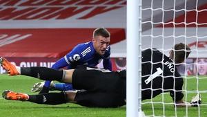 Vardy scored his sixth league goal of the season