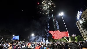 The result set off celebrations across the capital Santiago and other cities