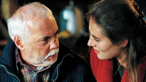 Michel Serrault and Mathilde Seigner in The Girl from Paris