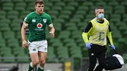 Garry Ringrose (L) is expected to be out for six weeks