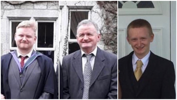 (L-R) The bodies of Mark, Tadg and Diarmuid O'Sullivan were discovered on Monday