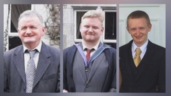 59-year-old Tadgh O'Sullivan, 25-year-old Mark O'Sullivan, and 22-year-old Diarmuid O'Sullivan died in the incident