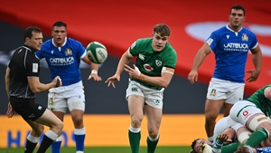 Garry Ringrose left the filed at the Aviva with a broken jaw