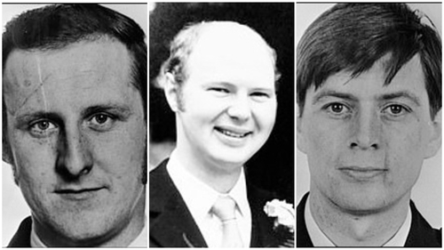 Seargant Sean Quinn, PC Paul Hamilton, and PC Allan McCloy were killed in the bomb blast 38 years ago