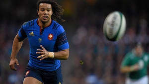 The Racing 92 winger suffered a hamstring injury against Wales at the weekend