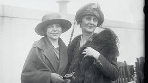 Katherine Barry (left) with Constance Markievicz