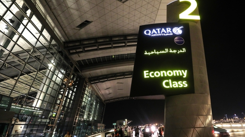 Women from 10 flights out of Doha were searched after a baby was found abandoned