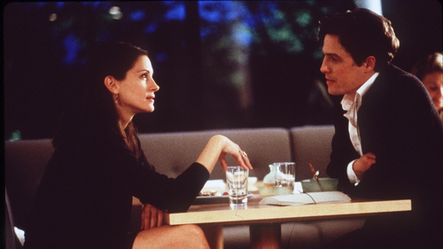 """Hugh Grant: """"I'd like to do me and Julia and the hideous divorce that's ensued with really expensive lawyers, children involved in [a] tug of love, floods of tears."""""""