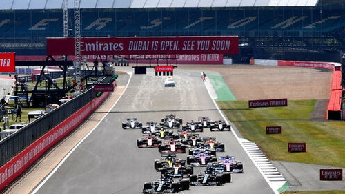 A view of the 70th Anniversary Grand Prix at Silverstone