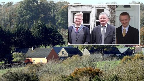 The O'Sullivan farm and (L-R) Mark, Tadg and Diarmuid O'Sullivan
