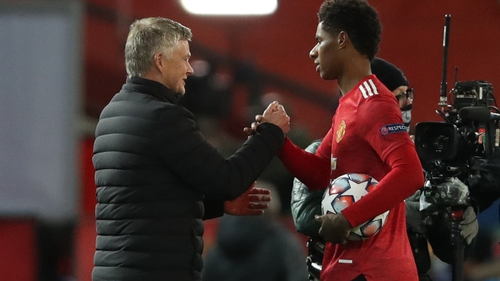 Two of a kind - Rashford and Solskjaer are the only United players to bag a hat-trick off the bench