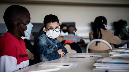 Until now only children aged over 11 had to wear face masks at school (file image)