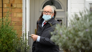 Jeremy Corbyn seen leaving his home ahead of the publication of the report