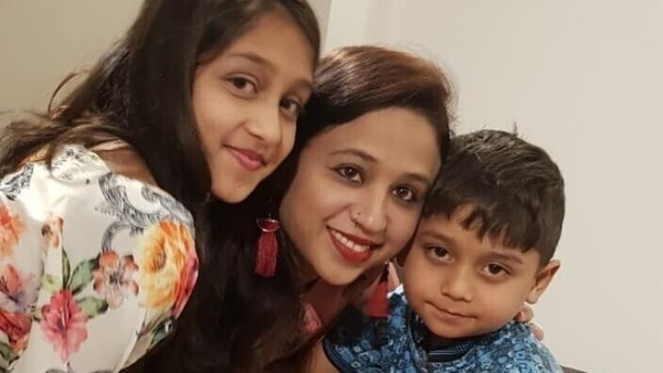 Seema Banu with her 11-year-old daughter Asfira Syed and six-year-old son Faizan Syed