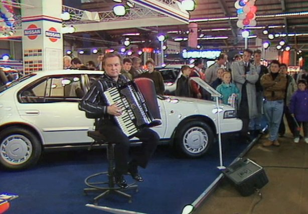 Noel Healy performs at the Motor Show on 'Bibi' (1990)