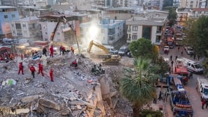 At least 20 buildings in the city of Izmir were destroyed