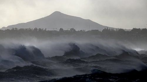 Waves crash beneath the Sugar Loaf in Co Wicklow (Pics: RollingNews.ie)