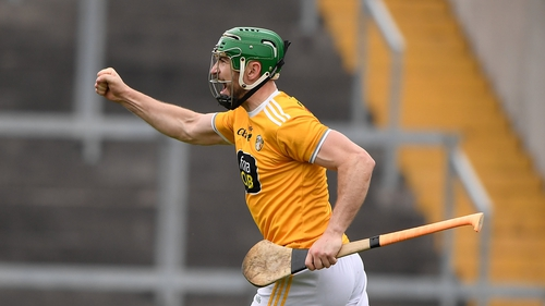 Antrim's Conor McCann struck a goal for the visitors