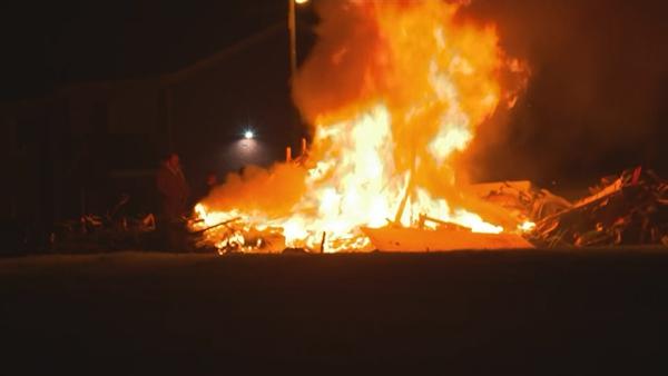 A fire seen in west Dublin tonight