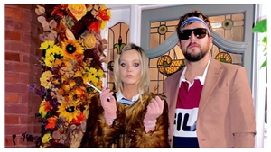 Laura Whitmore and her partner Iain Stirling got into the Halloween spirit